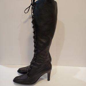 Michael Kors size 8.5 black lace up boots